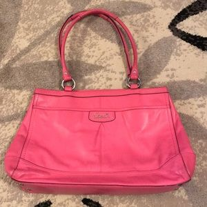 Pink Leather Coach Bag!